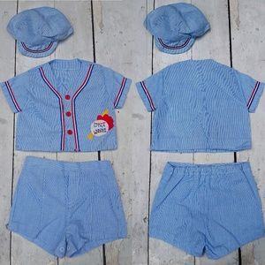 Other - Vintage Red White and Blue Baseball Outfit Set